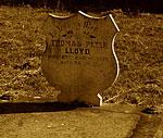 The grave of Thomas Lloyd at Greta